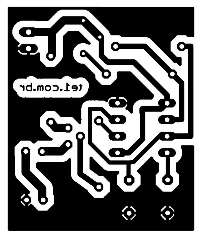 eagle bottom 700x828 Circuito bloqueador de controle remoto IR Com 555 Transmissores e RF led Controle Circuitos