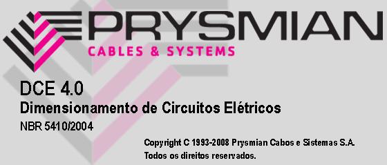 Download programa dce de dimensionamento de fios e cabos elétricos - baixa tensão, dispositivos de proteção e média tensão - by prysmian cabos e sistemas