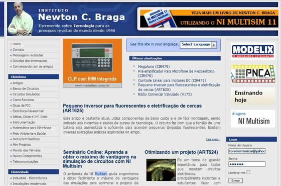 Site oficial do newton c. Braga - com mais de 5000 artigos vale uma visita!