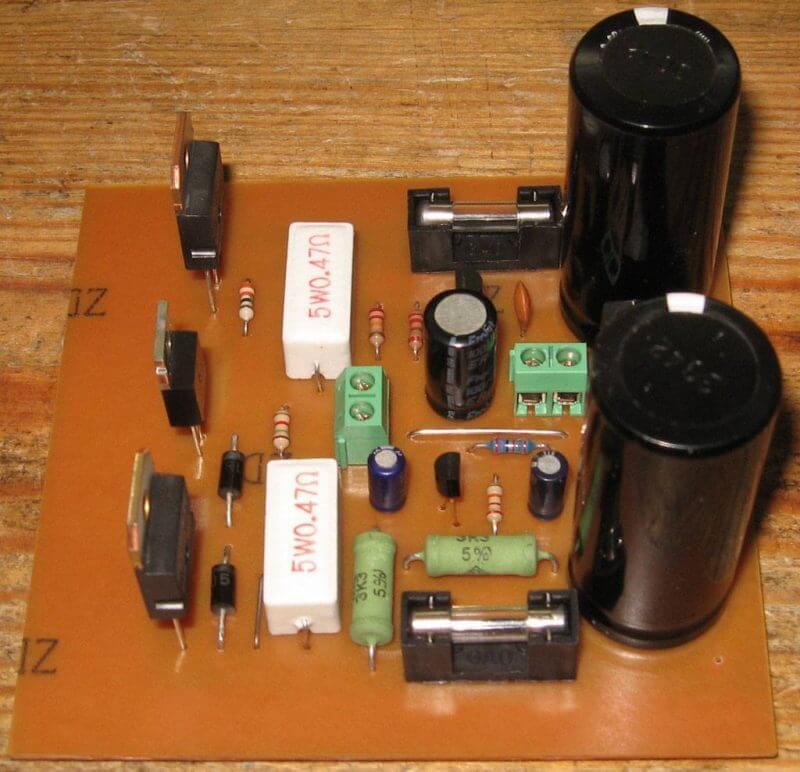 Amplificador 100W Simples Potência Com Transistor Tip142 E Tip147 Placa Montada