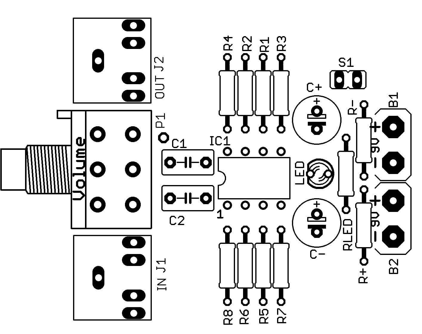 cmoy  u2013 circuito de amplificador est u00e9reo para fones de ouvido