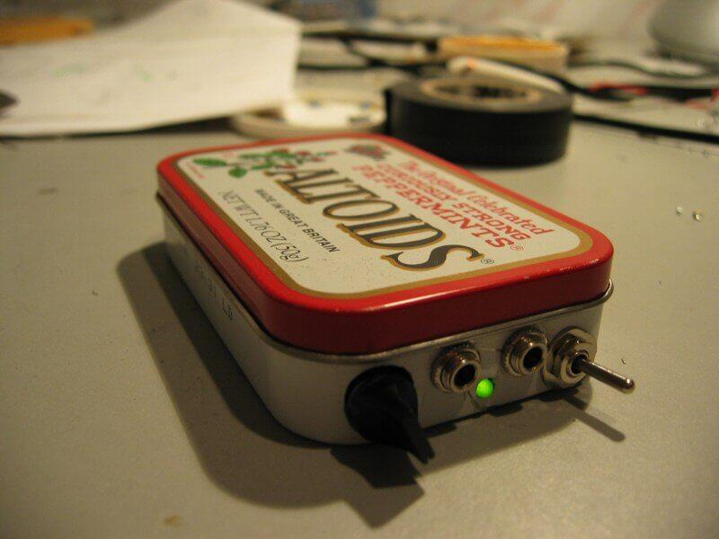 Circuito de amplificador para fones de ouvido com op amp- CMoy Headphone Amplifier