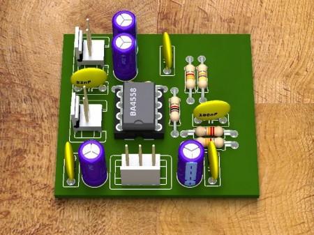 Filtro passa baixos1 450x337 Filtro passa frequências baixas usando BA4558