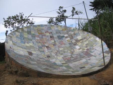 antena parabolica como fazer uma 450x337 Construa Antena parabólica caseira Com Tijolos e Cimento parabólica Notícias apontamento de antena