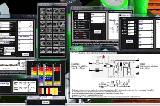 Nova versão do software de eletrônica eletro-calc - agora na versão 4. 0 - com novas funções