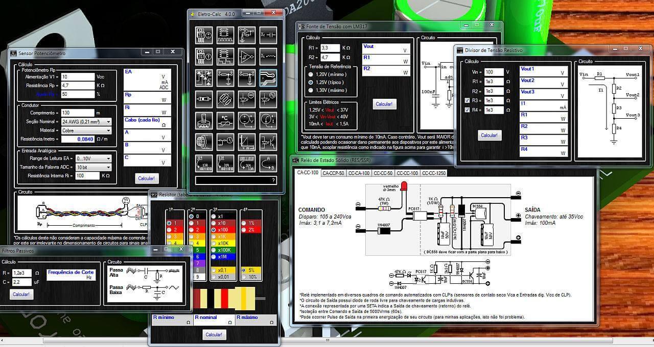 Nova Versão do Software de eletrônica Eletro-Calc - Agora na versão 4.0 - Com novas funções
