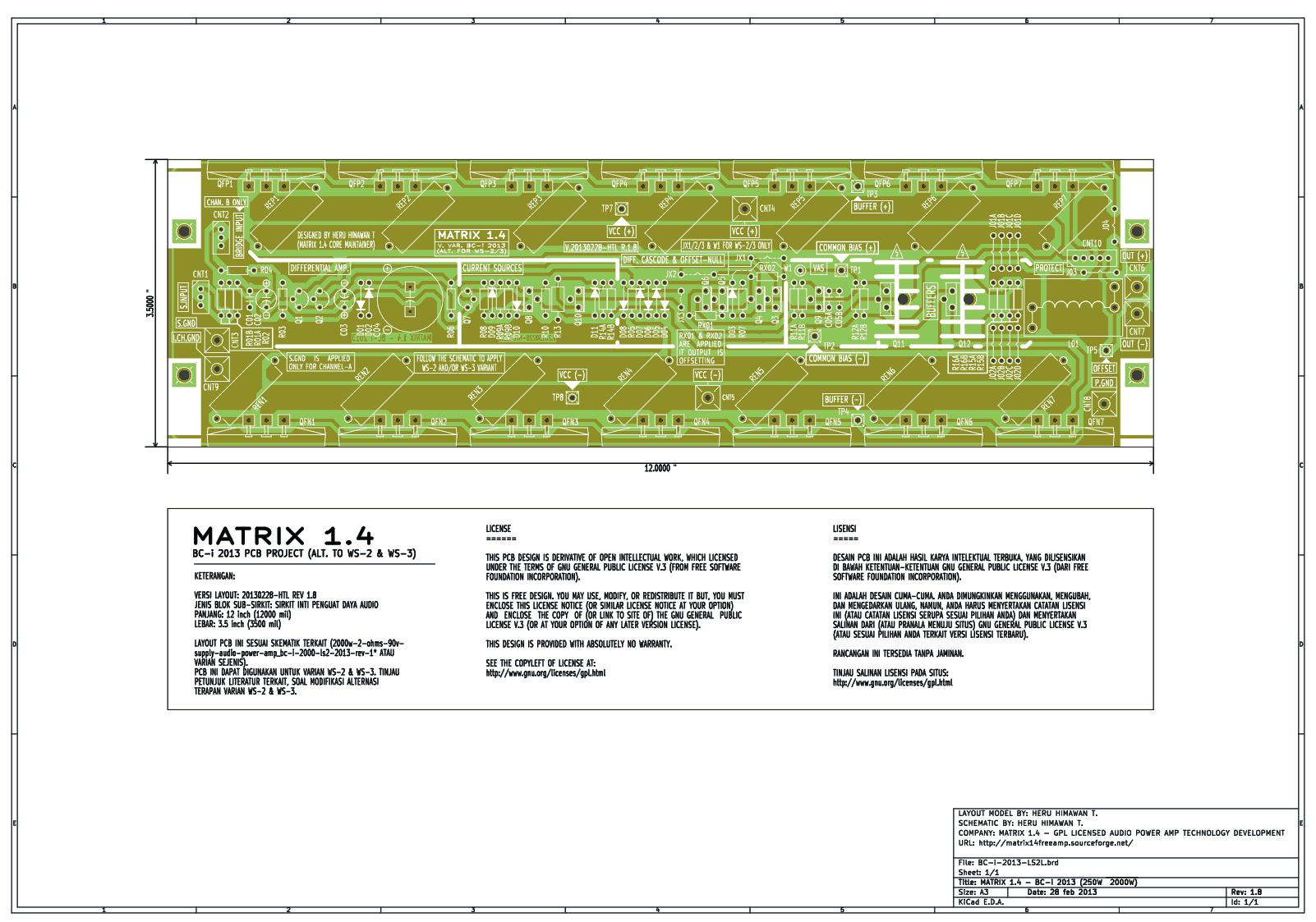 , Amplificador Matrix Áudio com transistor 1500 Watts RMS
