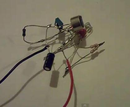 micro trasnmissor fm montagem detalhe Micro transmissor de FM   montagem sem placa Vídeos Tutoriais Transmissores Fm Transmissores e RF Transmissores Circuitos
