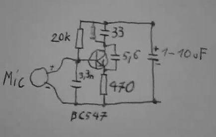 Micro transmissor de FM - montagem sem placa