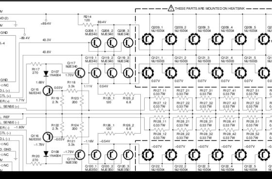 Amplificador de áudio com transistor para 1500 watts de potência