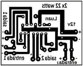 Tda1557 amplificador áudio para carro estéreo 22w placa de circuito impresso