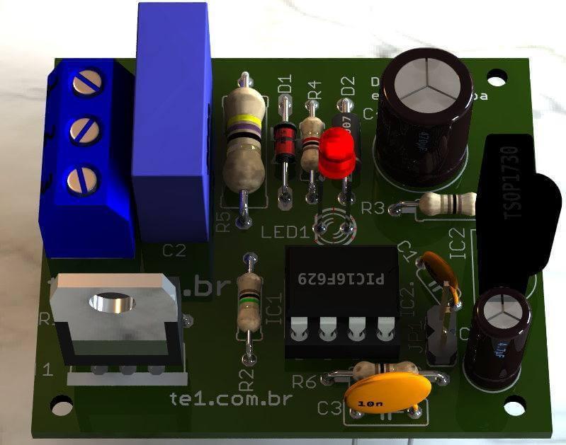 Dimmer com Triac controle remoto ir utilizando pic16f629