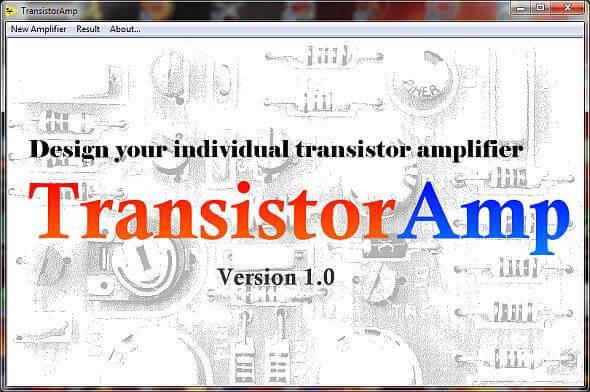 Download TransistorAmp 1.1 - Software gratuito para projetos de amplificadores com transistor bipolar