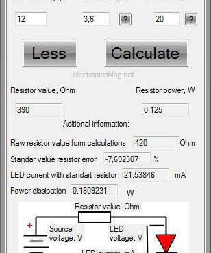 Download LED resistor calculator for windows - Software para cálculo de resistor para circuitos com leds