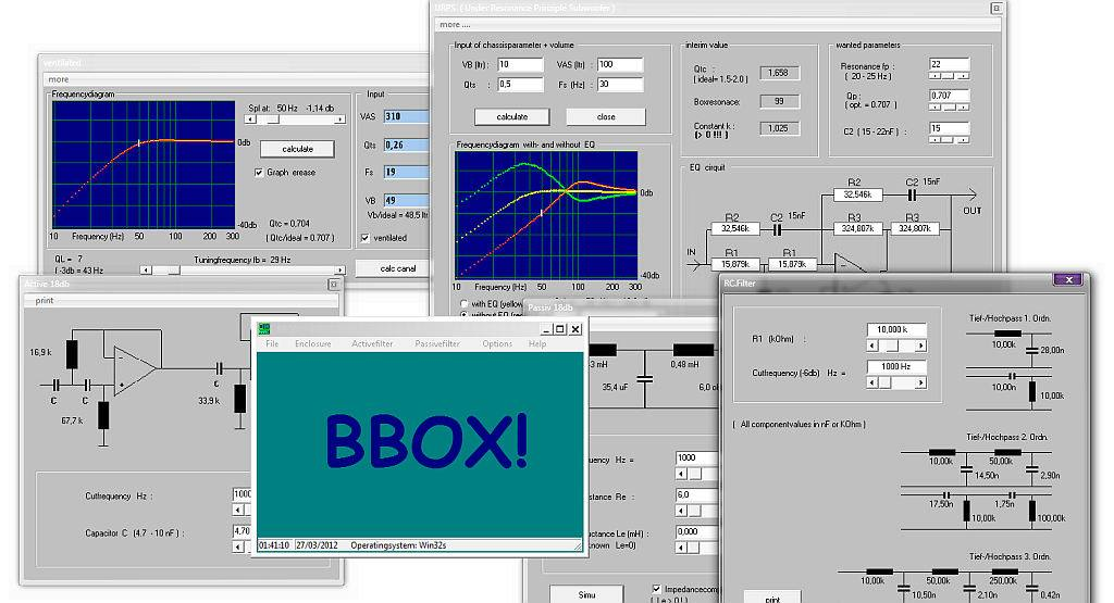 Download BBOX - Programa para desenvolvimento de sistema de som, filtros, caixas, crossover