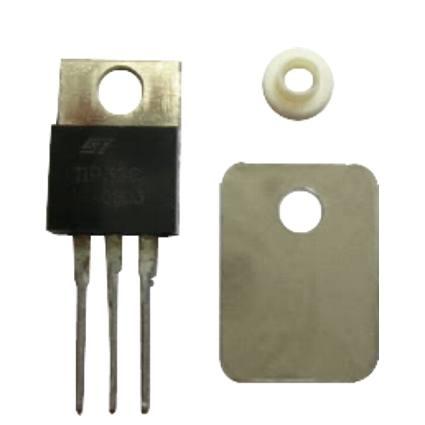 Isolador De Borracha Ou Mica Para To-220 Para Isolar Eletricamente O Corpo Do Integrado Do Dissipador De Calor