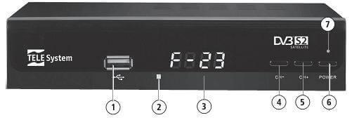 painel frontal telesystem f23 Novo Receptor Digital HD DVB S2 para antena parabólica Telesystem F23   Suporte a PVR e Reprodução de arquivos multimídia  tv digital parabólica Notícias dicas como ligar uma antena parabolica Dicas Antena
