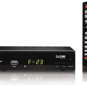 Receptor Digital HD DVB-S2 para antena parabólica Telesystem F23