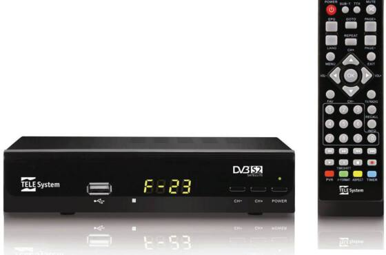 Novo receptor Digital HD DVB-S2 para antena parabólica Telesystem F23