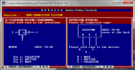 IC database software semicondutor data 450x233 Donwload Programa IC Database 2003 + Dosbox transistor Software de eletrônica Download Datasheet