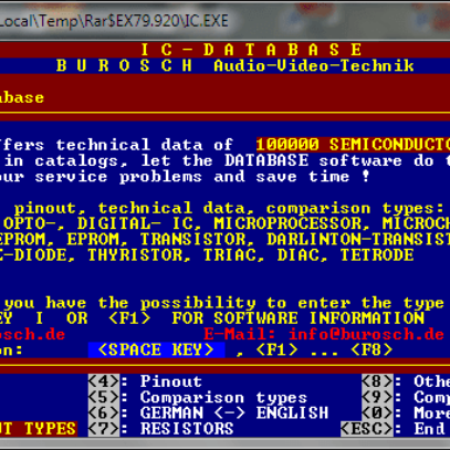 Donwload Programa IC Database 2003 + Dosbox