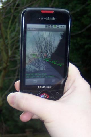 Satfinder Encontrar Satélites Droidware Softwares com cálculos para auxiliar no apontamento de antenas parabólicas para diversos satélites   Para dispositivos móveis com Android e IOs