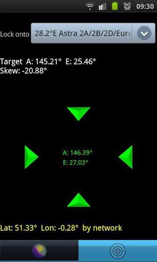 Satfinder Encontrar Satélites Droidware 2 Softwares com cálculos para auxiliar no apontamento de antenas parabólicas para diversos satélites   Para dispositivos móveis com Android e IOs