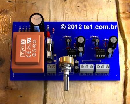 circuito amplificador lm386 estereo 450x360 Circuito de amplificador de áudio com CI LM386 inclui placa placa de circuito impresso Circuitos Áudio