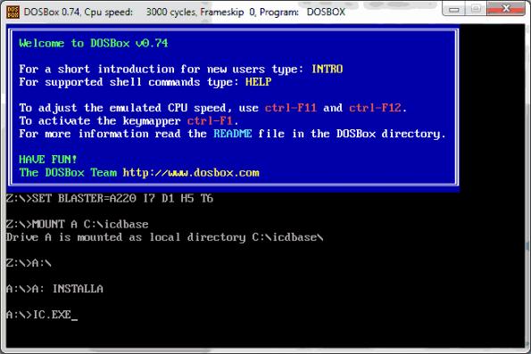 dosbox rodar jogos programas dos antigo windows 64 bits 595x397 Donwload Programa IC Database 2003 + Dosbox transistor Software de eletrônica Download Datasheet