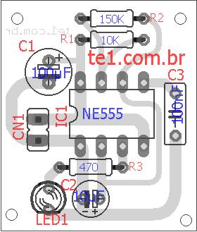 Simulador Alarme Carro Led 5555 Placa 2 Simulador De Alarme Automotivo Circuito De Simulador De Alarme Fake Carro E Casas