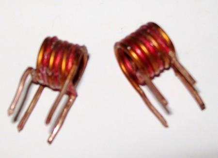 Bobinas 450x326 Transmissor de FM com saída amplificada   BD135 Transmissores Fm Transmissores e RF Transmissores Circuitos