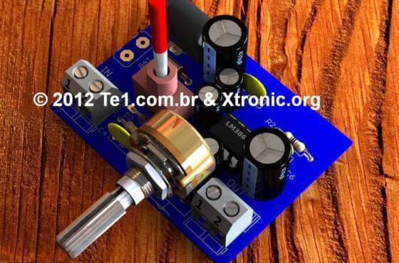 Circuito De Seguidor De Sinal De Áudio - Pesquisador De Áudio E Rf Com Lm386 - Ferramenta Para Manutenção De Equipamentos De Áudio