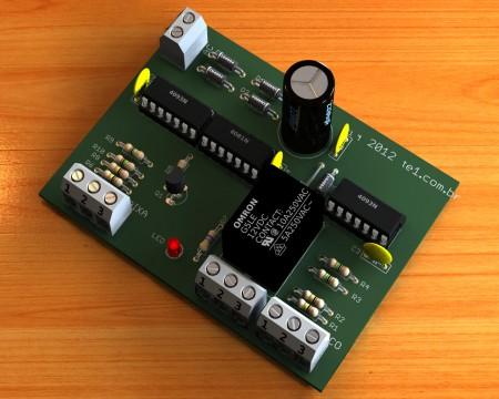 Circuito de controle automático para bomba dagua com sistema de detecção de reservatório (poço) vazio