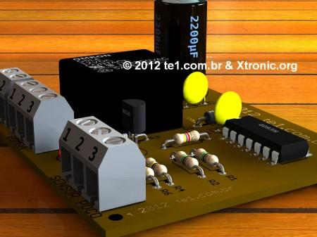 controle automatico nivel reservatorio 3d 450x337 Circuito de controle automático de nível de reservatório   Sensores para Ligar e desligar a bomba de acordo com volume dágua no poço sensores Controle Circuitos