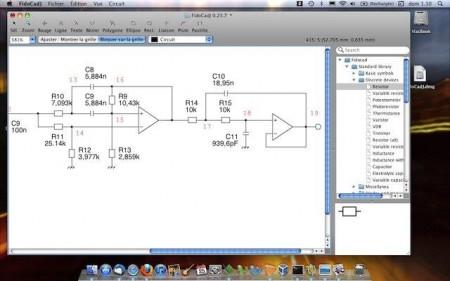 fidocaj software pcb cad1 450x281 Download FidoCadJ   Software Cad simples e intuitivo em Java Software de eletrônica placa de circuito impresso linux Download Desenho de esquemas Desenho circuito impresso