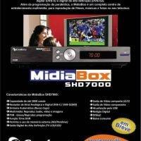 , Receptor digital Century Midia Box Shd7000 e SHD7050 HD