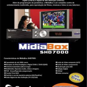 Receptor digital Century Midia Box Shd7000 e SHD7050 HD