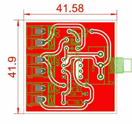 lm3585 Pre amplificador de microfone com lm358!