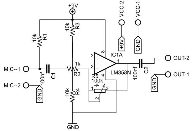 lm358d Pre amplificador de microfone com lm358!