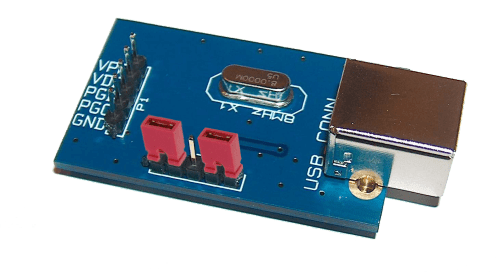 Placa de circuito impresso para montagem do gravador usbpicprog A placa utilizada inclui também uma versão SMD