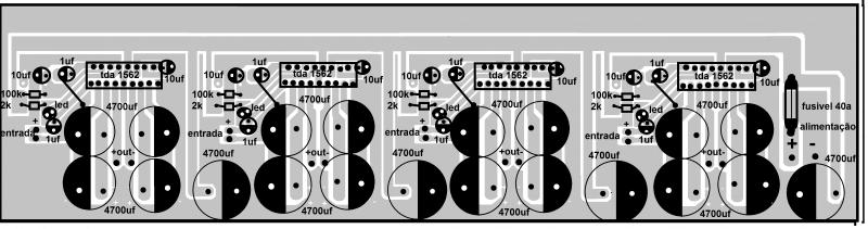 Amplificador Tda1562 Som Automotivo 280 Watts Rms