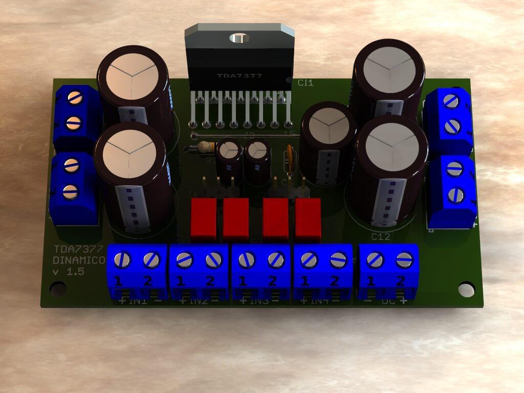 Circuito Amplificador De Audio : Amplificador potência em ponte com tda w rms