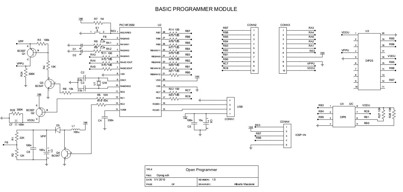 Open Programmer Programador Para Pic Atmel E Eprom