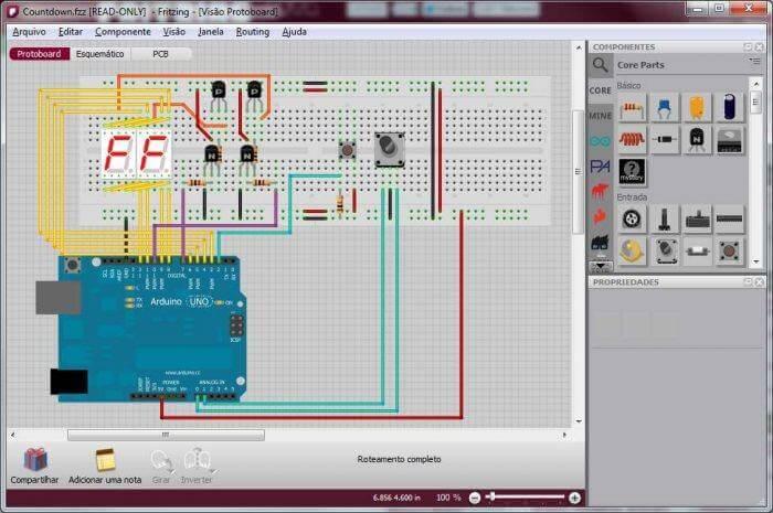 Download Fritzing pcb esquema protoboard arduino 700x465 Arduino : 'Microcontrolando' com facilidade Tutoriais Microcontroladores Dicas