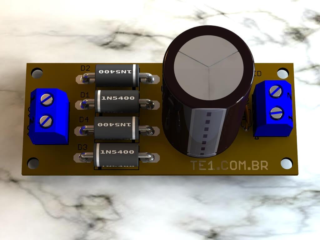 fonte linear não regulada para amplificadores de áudio