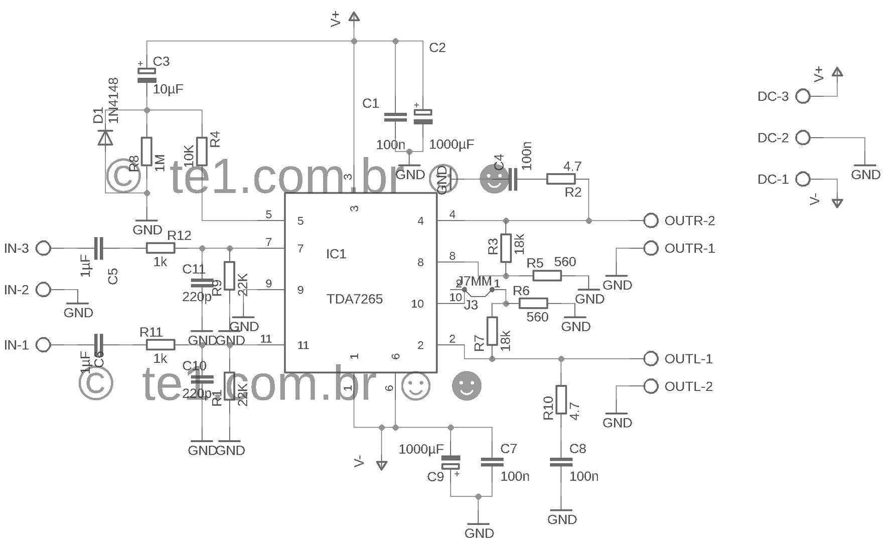 amplificador-estereo-tda7265-potencia-esquema.png (955×602 ...