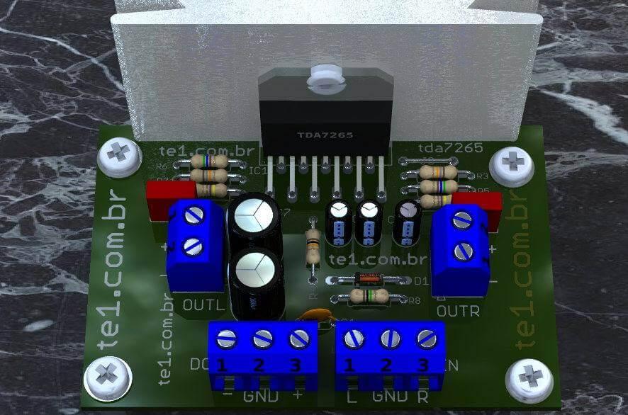 Amplificador estéreo tda7265