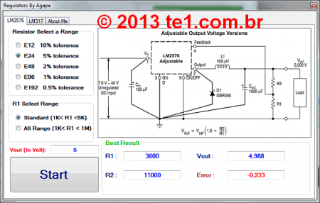 Regulator calculator lm2576 lm317 fonte alimentacao 450x286 Download Software  Regulator calculator   Cálculo de fontes com lm2576 e lm317 Software de eletrônica Fontes Download Calculadoras
