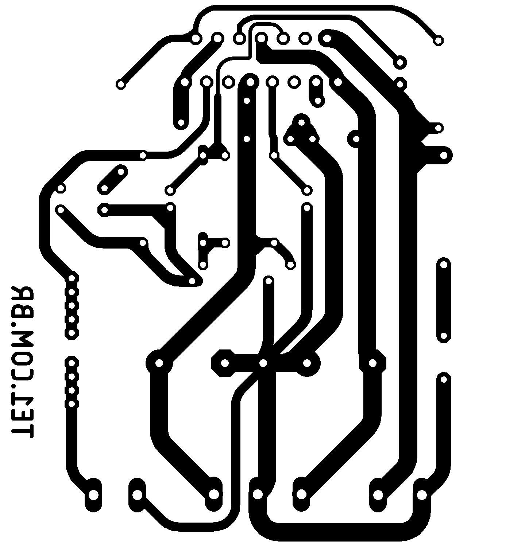 tda7296 pcb Circuito de Amplificador potência com CI TDA7296 ou TDA7295 tda7294 tda potência Circuitos Amplificador