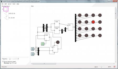 LogicCircuit Software projetos e simulação lógica digital 2 450x263 Download LogicCircuit –  Simulador de circuitos lógicos digitais. Software de eletrônica Simulador eletrônica digital Download